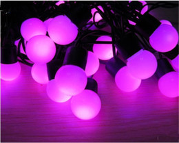 Wholesale Purple Marketing - 40LED 6M LED Strings Ball LED Christmas String Light Party Festival Market Decorative Light Ball String Lights 110v 220V White Ball Strings