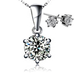 Wholesale Emerald Jewelry - New Arrical,Luxury Austria Crystal Necklace Earring Set,S925 Silver Jewelry Sets Wholesale,3 Layer Platinum Plated OS16