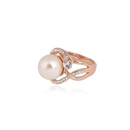 Wholesale Cat Eye Rings Wholesale - New Design Charming 18K Rose Gold Plated Fashion Designd Purple Cats Eye Stone For Women Engagement Jewelry Gift Rings For Womening