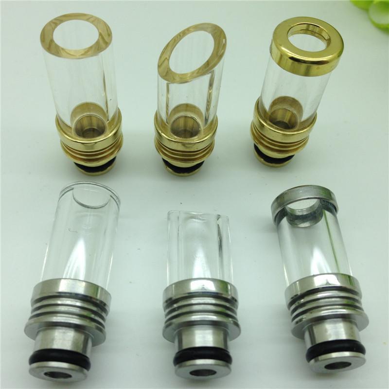 510 Drip tips Pyrex Glass Stainless Steel Punta a goccia Bocchino e serbatoio il drip tip ego WAX patriot Kanger protank Aspire Atomizer