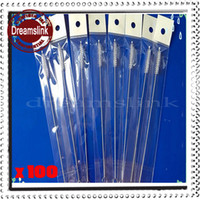 Wholesale 100pcs stainless steel wire cleaning brush straws cleaning brush mm mm