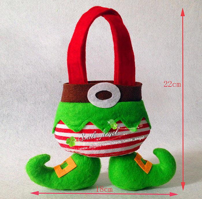 2014 New Bags Xmas Gift Bags Elves Shaped Design Candy Bags Wedding Favor Boxes Beautiful Unique Sweet Bags Christmas Ornaments
