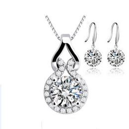 Sistemas cristalinos de la joyería de ORSA, conjuntos cristalinos desnudos de lujo del collar del pendiente, mujeres de la manera con Platinum plateado OS25