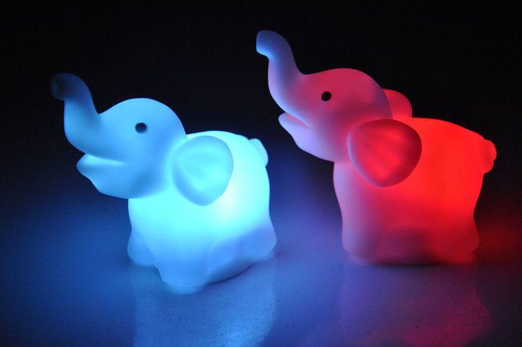 2017 New Colorful Elephant Small Led Night Light Elephant Candle