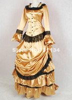 Custom- made Noble Gold Noble Vintage Bustle Style Ball Gown ...