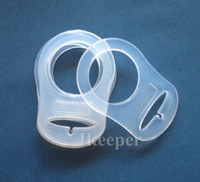 Wholesale Wholesale Mam Pacifier - 50Pcs Clear Silicone Adaptor   Nuk Button MAM Ring Dummy   Pacifier Clip Adapter MAM Rings Silicone Dummy
