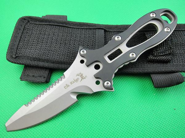 Elk Ridge diving knife 440 Fixed blade 57HRC camping knife Scuba diving cutting tools