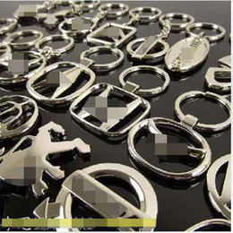 Wholesale Wholesale Keychain Fobs - Wholesale-20pcs lot 3D Hollow Series Auto Keyring Keychain Key Chain Ring Key Fob Key Holder,82 styles for Choice