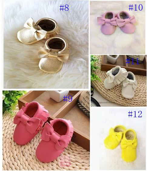 NEW!baby tassel moccasins soft sole moccs booties Various of Genuine leather Toddler/infant solid colour fringe shoes free shipping002