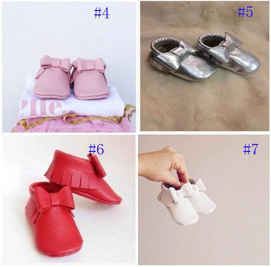 Hot!baby tassel moccasins soft sole moccs booties Various of Genuine leather Toddler/infant solid colour fringe shoes