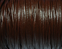 Wholesale Leather 2mm Round Brown - Free Ship 100meters 2mm Dark Brown Color Round Genuine Leather Cord For Jewelry DIY Rope