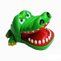 Wholesale Toy Crocodiles - Children's toys large will bite fingers big mouth of the crocodile The crocodile tooth toys Those trick toys novelty itemsFree Shipping