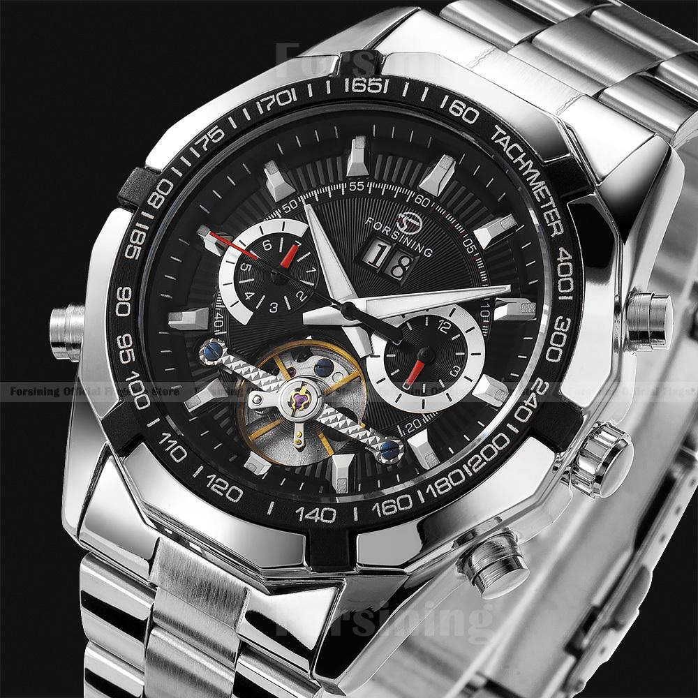 Promotion!!Top Brand Luxury relogios military Full Steel Casual watches Men Mechanical Automatic Tourbillon Sports wristwatches