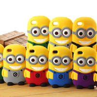 Wholesale Despicable Case Cover 3d - New 3D Despicable Me 2 Minions Soft Silicone Rubber fragrance skin Carton Case cover For iphoneSamSung galaxy