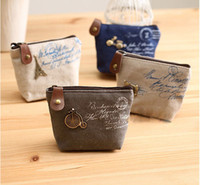 Key Wallets organize ties - new canvas bag Coin keychain Coin Purses wallet Purse change pocket holder organize cosmetic makeup Sorter