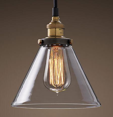 Discount Fancy Lighting Vintage Style Indoor Copper L&holder Triangle Clear Glass Pendant L& Light E27 For Bar/ Coffee Shop Hanging L&s For Bedroom ... & Discount Fancy Lighting Vintage Style Indoor Copper Lampholder ... azcodes.com