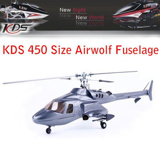Wholesales - KDS 450 size Airwolf Fuselage Glass fibre FG for KDS 450 RTF  rc helicopter Accept paypal Free toys helikopter