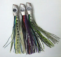 Wholesale Double Lure Skirts - 13inch 280g Big Octopus Skirt Lure Sea Game Trolling Fishing Lure Tuna Lure Marlin Lure Big Lure Resin head With Double Octopus Skirt