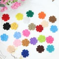 Wholesale Die Cut Felt - set of 1000pcs rainbow color felt pack die cuts flower blossoms confetti applique wholesale free shipping 18mm by0130