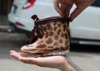 Wholesale baby girl crystal shoes online - new girls skull crystal girls rain boot fashion Leopard kids children s rain boots kids baby child Waterproof slip shoes dots rainboots