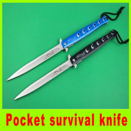 Wholesale Opening Flash - Free shipping blue Swordfish Folding blade knife Open in a Flash Pocket knife survival camping hiking outdoor gear knife knives tools 239L