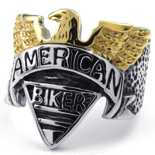 Best Price Gift Fashion Jewelry New Arrival New Eagle Motorcycles Stainelss Steel Finger Band Party Ring Free Shipping
