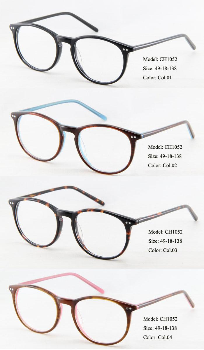 2018 High Quality Retro Vintage Glasses Round Acetate Designer ...