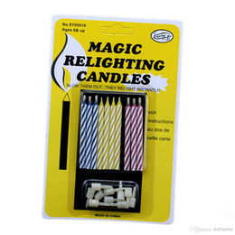 Wholesale Magic Party Cake - Birthday party supplies Eternal Cake candle blowing and Relighting candles Magic Relighting candles Birthday Tricky Toys
