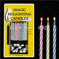 Wholesale Magic Party Cake - Birthday party gift Eternal Cake candle blowing and Relighting candles Magic Relighting candles Birthday Tricky Toy April Fool's Day supply