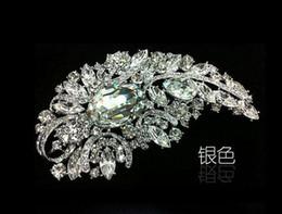 Huge rHinestone broocHes online shopping - 4 quot Huge Size Elegant Style Rhinestone Crystal Diamante Brooch Wedding Bridal Jewelry Gifts