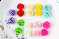 Wholesale Earring Flatback Beads - set of 50pcs big rose resin flower cabochon,charm beads 21mm Flatback for Craft making, DIY Accessory, Earring blank-sz0399