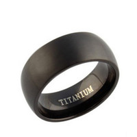 Wholesale Stainless Steel Women Wedding Rings - 2017 New Arrival,8mm Width Black Titanium Ring,Treny Style for Both Women & Men's Jewelry OTR01