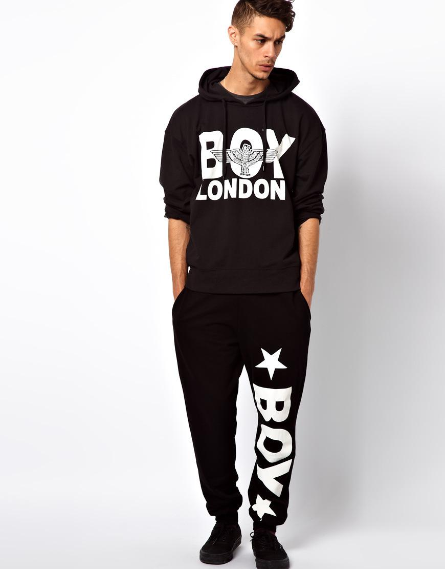 2018 New Boy London Letter Print Women Men Sportswear Sport Suit Men British Style Casual Sport