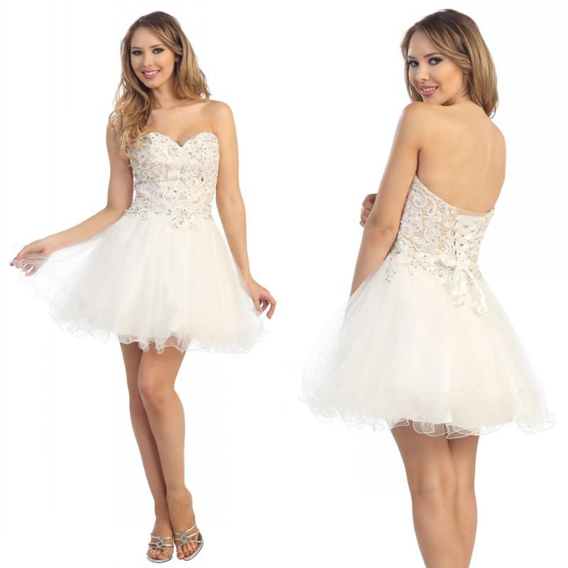 59 $! Perles cristal mignon chérie A-ligne Beads Organza bon marché Corset Homecoming Robe courte robes de bal courtes Robes de fête Sweet 16 robes