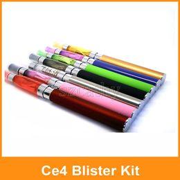 Wholesale Ego T Blister Kits - Ego CE4 Blister Kit Ego-t battery 1.6ml Tank Atomizer Clearomizer Electronic Cigarette 1100mah Vape Pen Blister kit E Cigarette Starter Kit