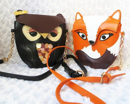 Discount plain handbags wholesale - wholesale Fashion Luxury women owl cartoon PU leather bag Cross body OWL shoulder bags handbag totes purse wallets xmas