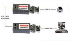 Video Transceivers Mini CCTV Passive Video Balun BNC Cat5 UTP Twisted Pair on Sale