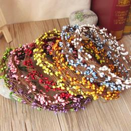 PiP beads wholesale online shopping - Diy Garland Artificial Flower Head Ring Wedding Garland Pip Berry Flower Stamen DIY Wreath Simulation Flower Bead Material