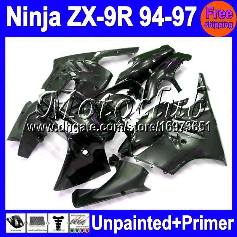 7gifts Unpainted + Primer Verkleidung für KAWASAKI NINJA ZX9R 94-97 ZX 9R ZX-9R 94 95 96 97 1994 1995 1996 1997 Verkleidung Karosserie Karosserie