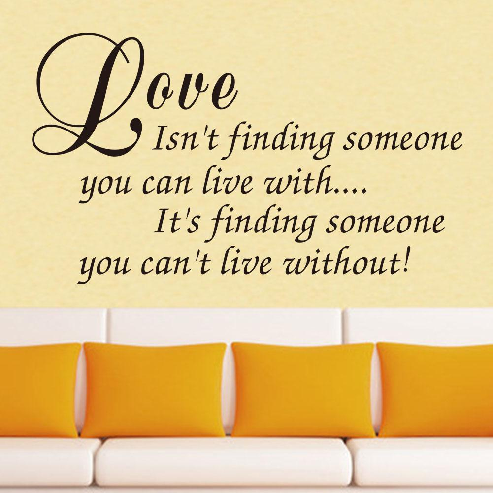 Perfect Vinyl Wall Art Decal Decor Love Quote Stickers Love Isnu0027T Finding Someone  You Can Live With Home Decor Wall Decals Flowers Wall Decals For Adults  From ...