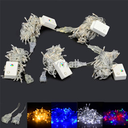 pink net christmas lights Promo Codes - 110V 220V 50M 500 LED Chain Fairy String Lights for Holiday Christmas Xmas party Warm White Red Yellow Blue Green Purple Pink MultiColor