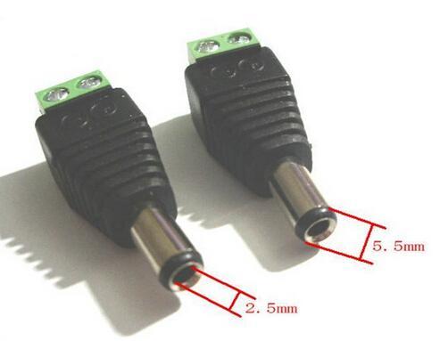 top popular 2.1 x 5.5mm DC Power Plug CCTV Camera Connector UTP Power Plug Adapter Cable DC AC 2 2020
