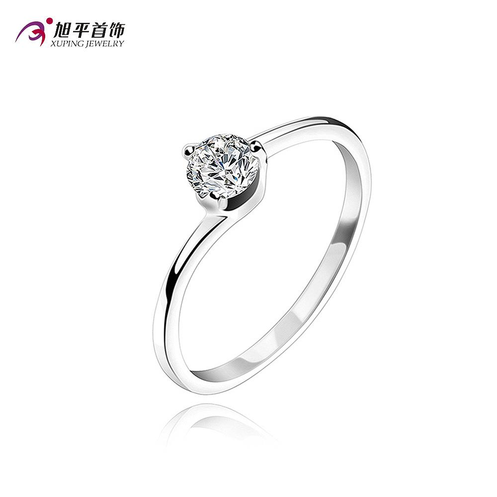 Xuping Female Silver Ring Jewelry Rings Fashion Ruili Beautiful Birthday Gift To Send His Girlfriend Engagement For Women Princess Cut