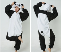 Wholesale panda animal pajamas - Kung Fu Panda Kigurumi Pajamas Animal Suits Cosplay Outfit Halloween Costume Adult Garment Cartoon Jumpsuits Unisex Animal Sleepwear