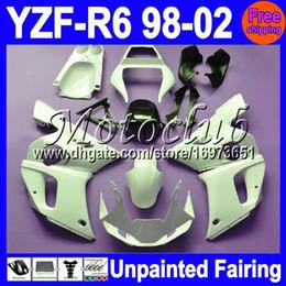 kit de cuerpo de 99 r6 Rebajas 7gifts Kit de carenado completo sin pintar para YAMAHA YZF-R6 YZFR6 YZF600 YZF R6 600 98 99 00 01 02 1998 1999 2000 2001 2002 Carenados Carrocería Carrocería