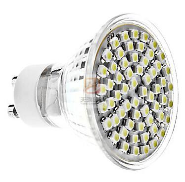 Échantillon de GU10 60-3528SMD LEDS 110V-240V Spot Led Downlight Light Ampoules Led Blanc chaud / froid