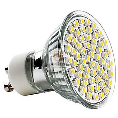 Örnek GU10 60-3528SMD LED'LER 110 V-240 V Spot Led Işık Downlight Led Ampuller Sıcak / Soğuk Beyaz