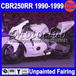 Wholesale 95 Cbr Fairing Kit - 7gifts Unpainted Full Fairing Kit For HONDA CBR250RR MC22 CBR 250RR CBR250 RR 1990 1991 1992 95 1996 1997 1998 1999 Fairings Bodywork Body