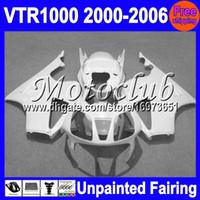 honda vtr sp2 fairings toptan satış-7 galonlar Boyasız Tam Fairing Kiti HONDA RC51 VTR1000 RTV1000 SP1 VTR 1000 SP2 2000 2001 2002 2003 2004 2005 2006 Fairings Kaporta Vücut