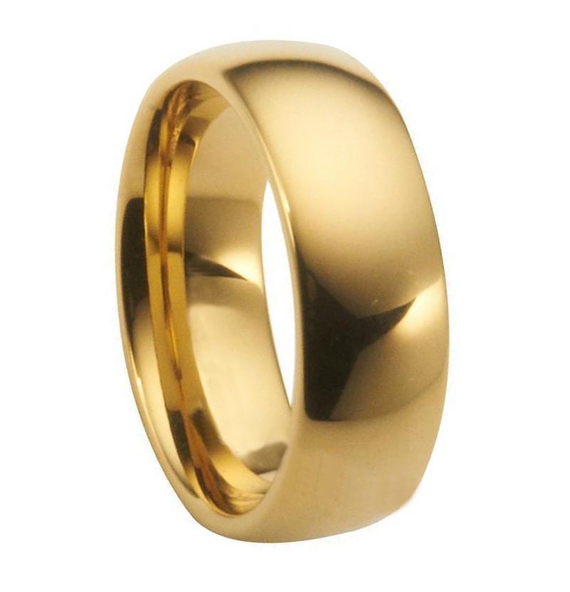 Best 8mm Tungsten Carbide Big Ring Faceted Tungsten Women Ring 18k